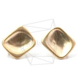ERG-988-MG【2個入り】スクエアピアス,Square Post Earrings/11mm X 12mm