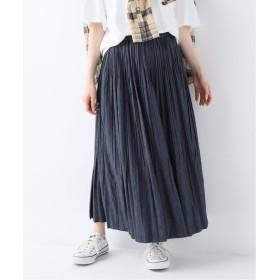 FRAMeWORK Chambray twill Pleated スカート