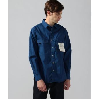 トゥモローランド コットンポプリン ワークシャツ メンズ 67ダークブルー S 【TOMORROWLAND】