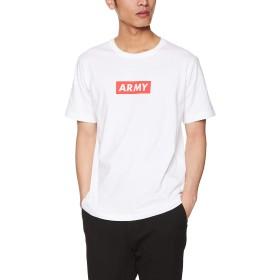 [ウィゴー] WEGO ARMY ボックスロゴ T シャツ 半袖 2 L ホワイト メンズ