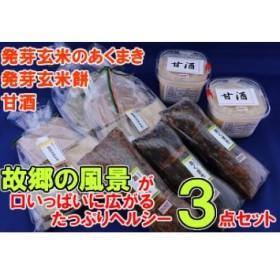 【10062】発芽玄米のお餅・あくまき・甘酒 3点セット