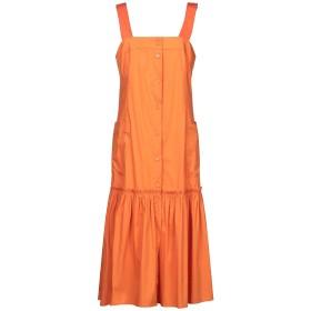 《期間限定セール開催中!》TWINSET レディース 7分丈ワンピース・ドレス オレンジ M 68% コットン 28% ナイロン 4% ポリウレタン