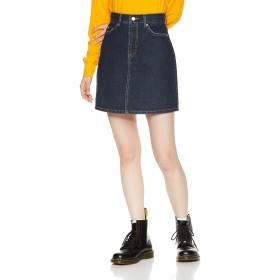 [ウィゴー] WEGO デイリー 台形 ミニ スカート XS デニム インディゴ 濃色 レディース