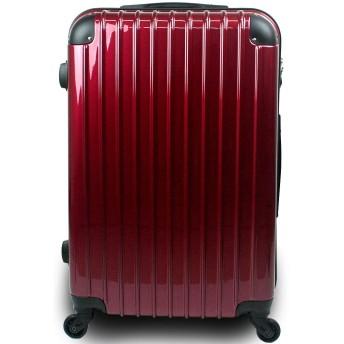 スーツケース キャリーバッグ 3サイズ(大型 Lサイズ/中型 Mサイズ/小型 Sサイズ)TSA搭載 コスモ3000PC 超軽量 ファスナーモデル (Mサイズ 中型 3泊~7泊用, プレミアムワイン)