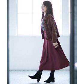 【nano・universe:スカート】ウールフレア脇タックスカート