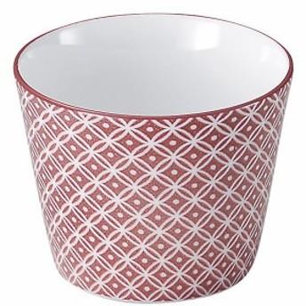 光洋陶器(Koyotoki) そば猪口 赤 230ml 蕎麦猪口 古青藍(紅七宝) 柄 51240195