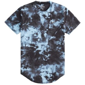 [ホリスター] メンズ Tシャツ (半袖) MUST-HAVE CURVED HEM T-SHIRT ブラックブルー (USA基準) M [並行輸入品]