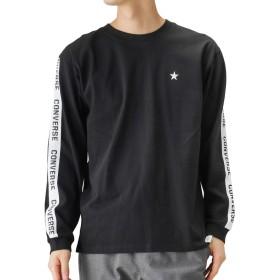 CONVERSE(コンバース) ロングTシャツ 長袖Tシャツ ロンT クルーネック 9173-9560 メンズ ブラック×ライン:L