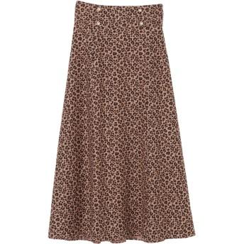 Maison de FLEUR Petite Robe ヒョウ柄マーメイドスカート