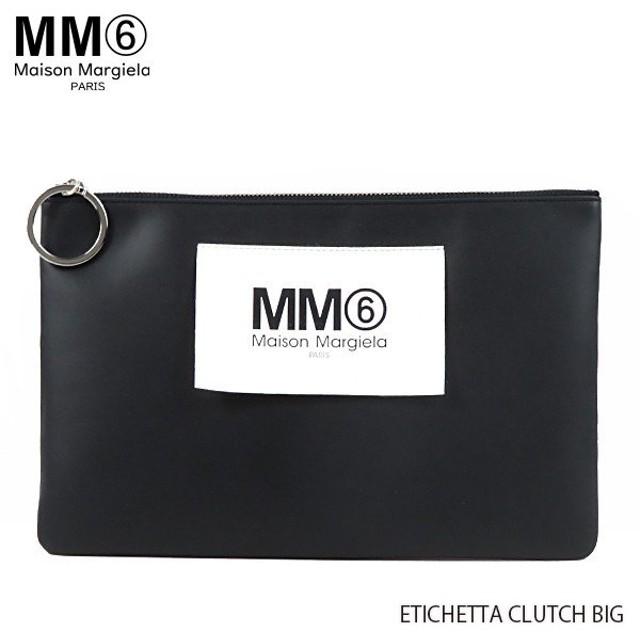 『MM6 Maison Margiela-エムエム6 メゾンマルジェラ-』ETICHETTA CLUTCH BIG クラッチバッグ フラットポーチ