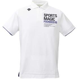 デサント ポロシャツ メンズ 上 DESCENTE SPORTSMAGIC 半袖 バレーボール ビッグロゴ ドライ Mサイズ