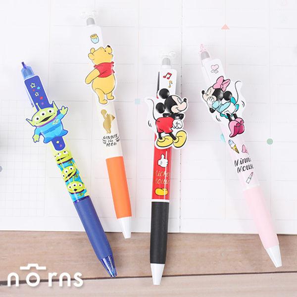 【日本UNI R:E擦擦筆P4造型筆夾系列】Norns 迪士尼米奇米妮原子筆 三眼怪日本文具 彈性筆夾摩樂筆