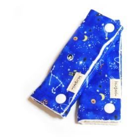 2枚組 宇宙柄 ギャラクシー柄 ブルー シートベルト チャイルドシート ランドセル リュック マルチカバー リバーシブル