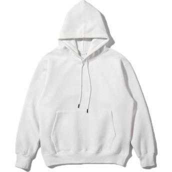 MiXiaoJie パーカー スウェット プルオーバー フード付き 長袖 ドロップショルダー 暖かい 裏起毛 無地 柔らかい ゆったり オーバーサイズ カジュアル ユニセックス (XL, ホワイト)