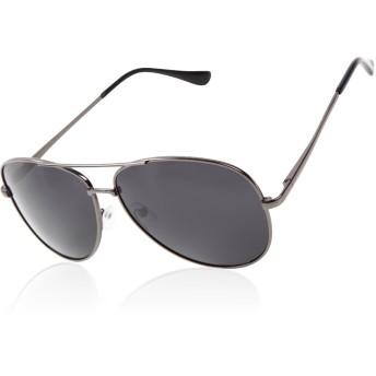 [AFROMARKET] 偏光 サングラス ティアドロップ メンズサングラス クラシック デザイン UVカット クロス&メガネケース