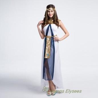ギリシャの女神 エジプトの女王アラビア風プリンセスハロウィン コスプレコスチュームセクシーレディースメンズイベント衣装舞台衣装