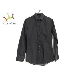 ドルチェアンドガッバーナ 長袖シャツ サイズ3815 メンズ 黒×アイボリー ドット柄  値下げ 20190905