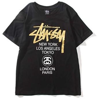 (ステューシー) STUSSY 半袖プリントTシャツ メンズ SS WORLD TOUR S/S Tee[1903266] L ブラック