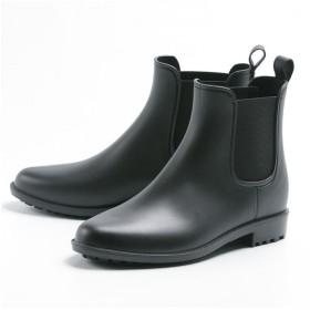 フットプレイス レディース レインブーツ サイドゴア 長靴 SG B18149 レディース ブラック M 【FOOT PLACE】