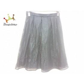ニジュウサンク 23区 スカート サイズ38 M レディース 黒 刺繍   スペシャル特価 20191028