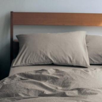 先染め綿100%の枕カバー2枚セット