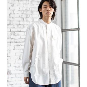 【40%OFF】 コーエン ワークバンドカラーロングシャツ メンズ WHITE X-LARGE 【coen】 【タイムセール開催中】