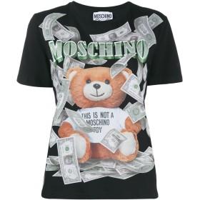Moschino teddy bear print T-shirt - ブラック