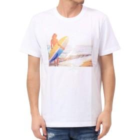 [ガッチャ] GOTCHA Tシャツ サーフ ガール フォト TEE 192G1007 ホワイト L