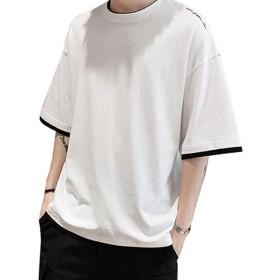 SHEYA メンズ 長袖/半袖 ポロシャツ シャツ カジュアル ファッション スポーツ 夏 春 無地 綿 ボタン 部屋着