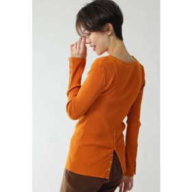 【10%OFF】 ローズバッド ボタンデザインカットソー レディース オレンジ 【ROSE BUD】 【タイムセール開催中】