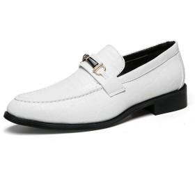 靴 男性 ビジネス カジュアル 通気性 ファッション フォーマル シューズ 通気 (Color : 白, サイズ : 24 CM)