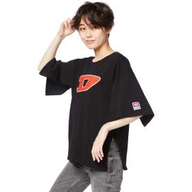 (ディーゼル) DIESEL レディース Tシャツ Dロゴ 半袖 トップス 00SWN40CATJ L ブラック 900