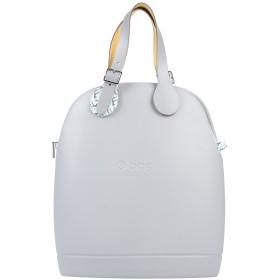 《セール開催中》O BAG by FULLSPOT レディース ハンドバッグ ライトグレー ポリウレタン 85% / ポリエステル 10% / レーヨン 5% / 再生革 / コットン
