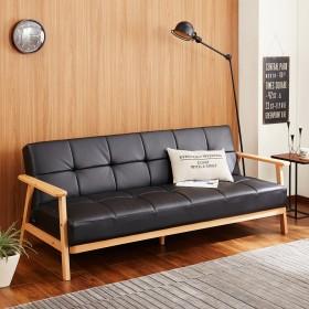 木肘付きソファーベッド