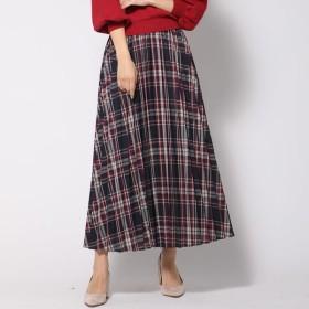 [マルイ] 【大きいサイズ】カラーチェックロングプリーツスカート/クイーンズコート(大きいサイズ)(QUEENS COURT)