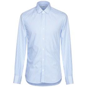 《期間限定セール開催中!》MR MASSIMO REBECCHI メンズ シャツ アジュールブルー 39 コットン 100%