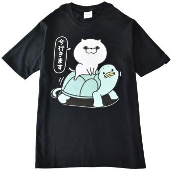(アルージェ) ARUGE ヨッシースタンプ YOSISTAMP うさぎ くま ひよこ ねこさま 半袖 Tシャツ メンズ / C2G / LL B柄80-49ブラック