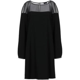 《期間限定セール開催中!》EMPORIO ARMANI レディース ミニワンピース&ドレス ブラック 40 ポリエステル 100%