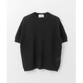 [サニーレーベル] セーター コットンリネン半袖サマーニット メンズ ブラック M