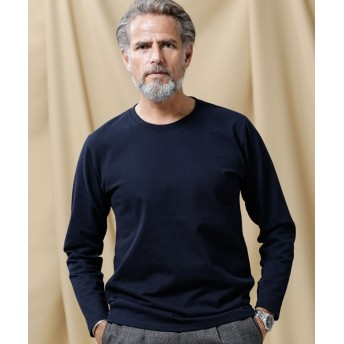 【公式/ナノ・ユニバース】ナノフォルテクルーネックTシャツ L/S 5000円以上送料無料【nano LIBRARY】