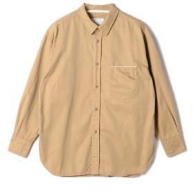 ESTNATION / ビックシルエットコットンツイルシャツ ベージュ/LARGE(エストネーション)◆メンズ シャツ/ブラウス
