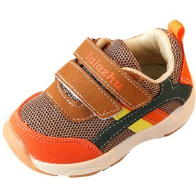 (ラボーグ) La Vogue ベビーシューズ キッズ スニーカー 運動靴 子供靴 女の子 男の子 スポーツシューズ 軽量 通気 ファーストシューズ 練習靴 カジュアル カーキ色 14.5cm