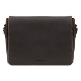 LOTUFF(ロトプ) 牛革 レザー 5 Color メッセンジャーバッグクロスバッグ LO-3505 メンズ レディース Leather Cross Bag Messenger Bag [並行輸入品]