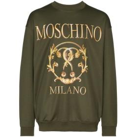 Moschino logo print sweatshirt - グリーン