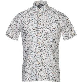 《期間限定セール開催中!》PLECTRUM by BEN SHERMAN メンズ シャツ アイボリー S 100% コットン