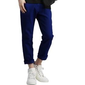swanunion スワンユニオン スキニーパンツ メンズ 深いポケット ストレッチ デニム 大きい サイズ 無地 スリム カラーパンツ 青 ブルー f909-27inch
