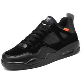 [Bormran] 6cm身長アップ メンズ 背が高くなる靴 シークレットスニーカー シークレットブーツ 厚底スニーカー ランニングシューズ シークレットシューズ スニーカー おしゃれ FDX194 (25.0cm, ブラック)