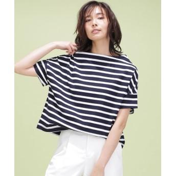 ワイドドロップボーダーTシャツ 5000円以上送料無料【公式/ナノ・ユニバース】