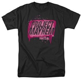 SMURAB Project Mayhem Fight Club メンズ/レディース Tシャツ/夏服 スポーツ Tシャツ ブラック/半袖 Tシャ