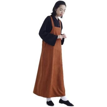 (メルロー) merlot バックリボンジャンパースカート キャメル
